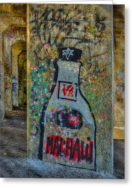 Indiana Art Greeting Cards - Love Graffiti Greeting Card by Susan Candelario