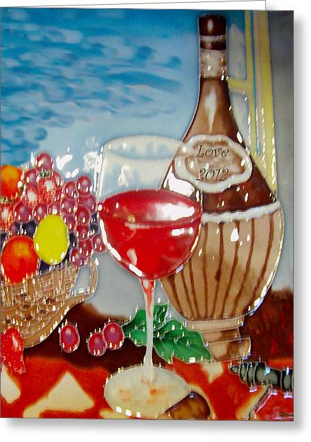 Toast Mixed Media Greeting Cards - Love In A Bottle Greeting Card by Steve OBryan