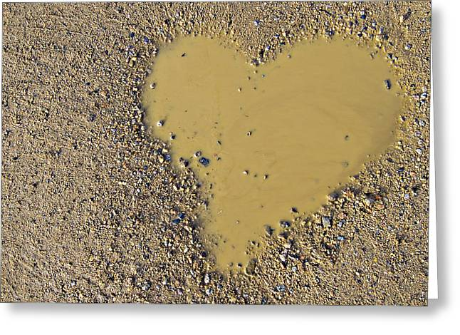 love in a muddy puddle Greeting Card by Meirion Matthias