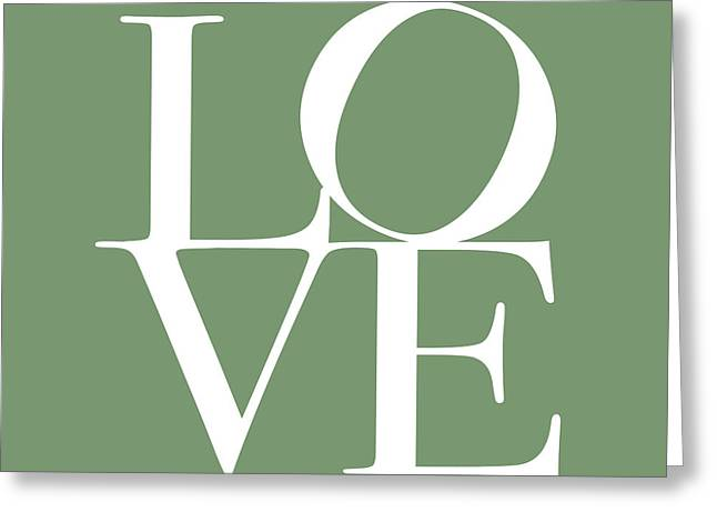 Chic Digital Greeting Cards - Love in Green Greeting Card by Michael Tompsett