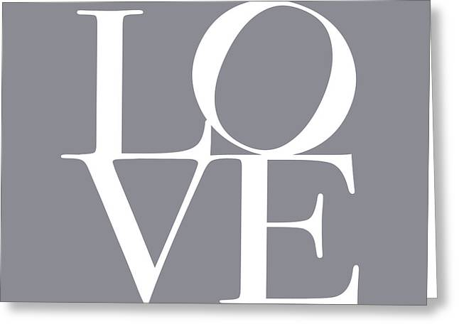 Love in Grey Greeting Card by Michael Tompsett