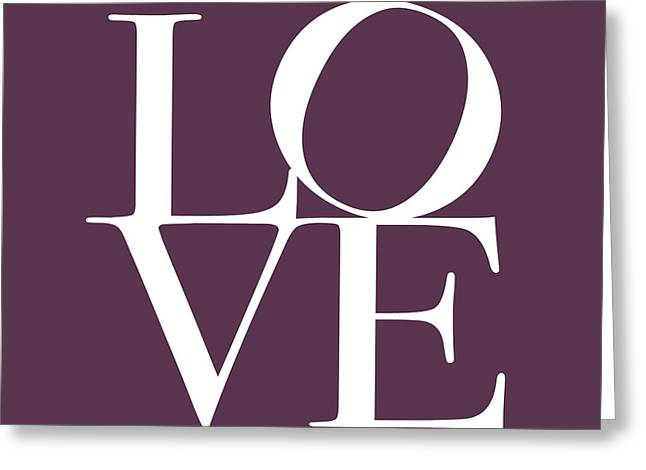 Chic Digital Greeting Cards - Love in Mullbery Plum Greeting Card by Michael Tompsett