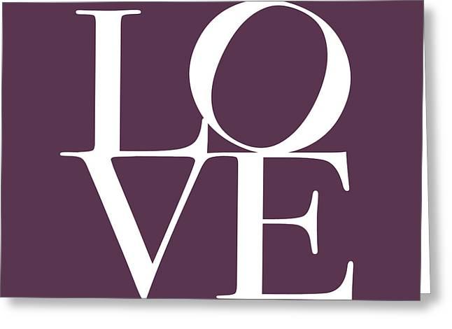 Love in Mullbery Plum Greeting Card by Michael Tompsett