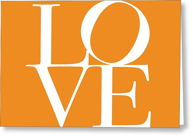 Love in Orange Greeting Card by Michael Tompsett