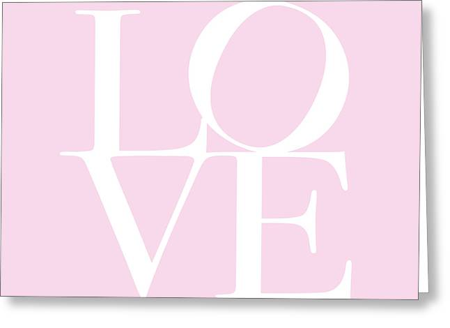 Letters Greeting Cards - Love in Pink Greeting Card by Michael Tompsett