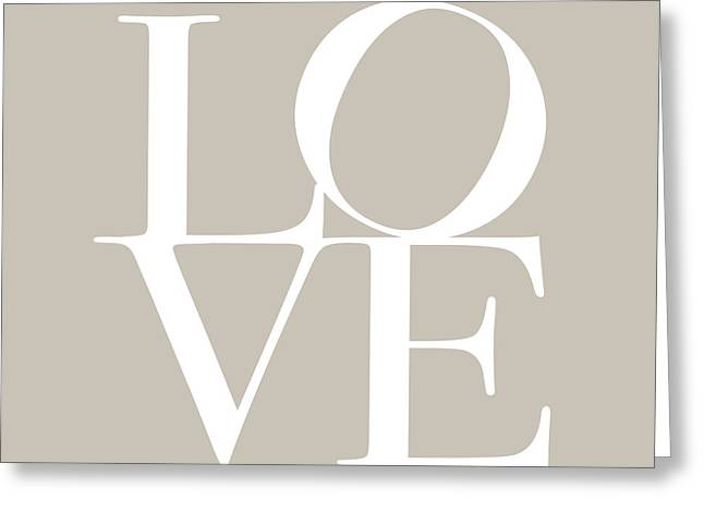 Letters Greeting Cards - Love in Taupe Greeting Card by Michael Tompsett