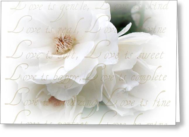 Love Poem Greeting Cards - Love Is Greeting Card by Kathy Bucari