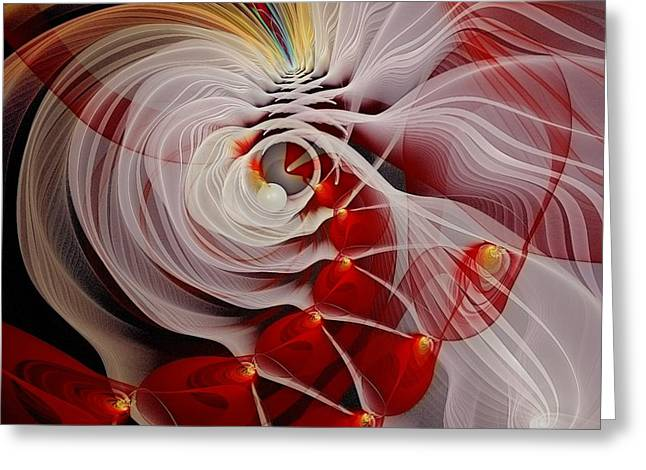Love is Like a Fire Greeting Card by Gayle Odsather