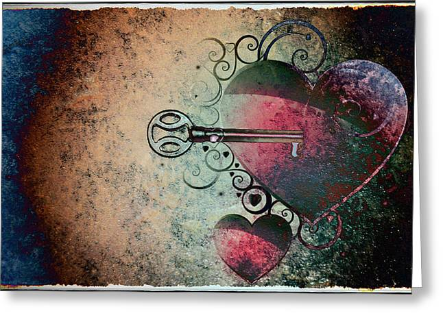 Harts Digital Greeting Cards - Love Is the Key Greeting Card by Bill Cannon