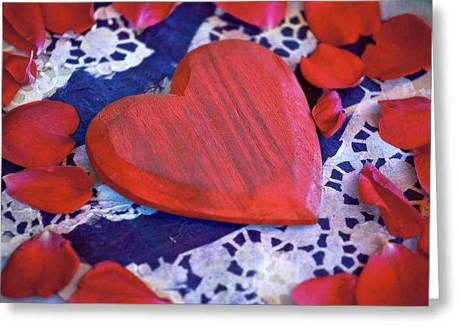 Rose Petals Greeting Cards - Love Greeting Card by Joana Kruse