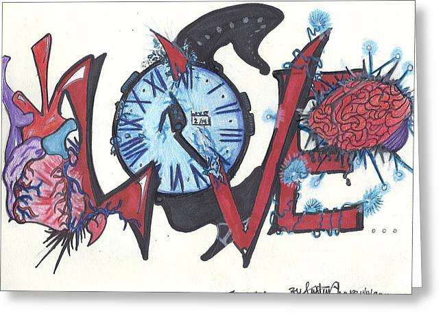 Love Greeting Card by Justin Chase