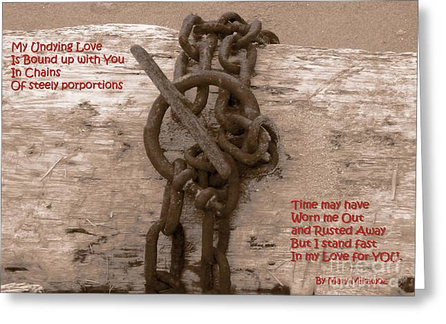 Ruse Greeting Cards - Love Knot Greeting Card by Mary Mikawoz