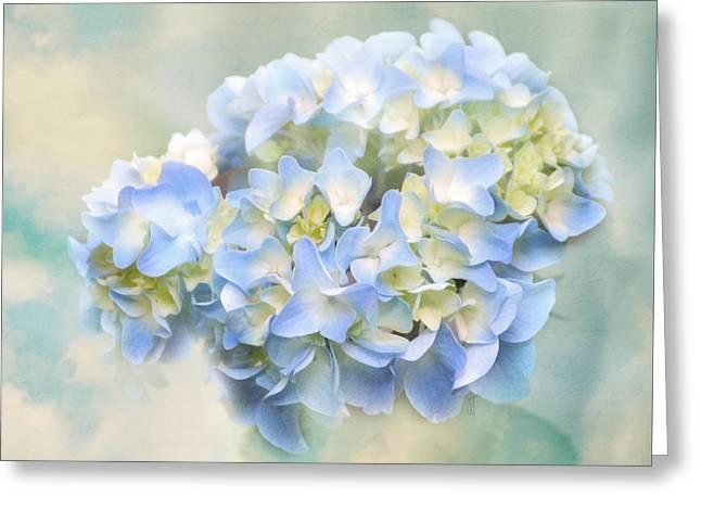Love Letter VII Hydrangea Greeting Card by Jai Johnson