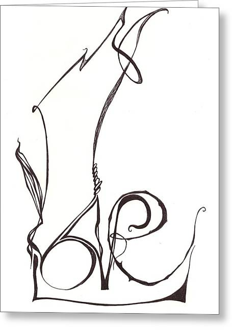Love Letter Drawings Greeting Cards - Love Letters Greeting Card by Vivianne Maloney