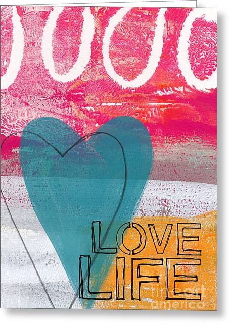 Doodle Greeting Cards - Love Life Greeting Card by Linda Woods