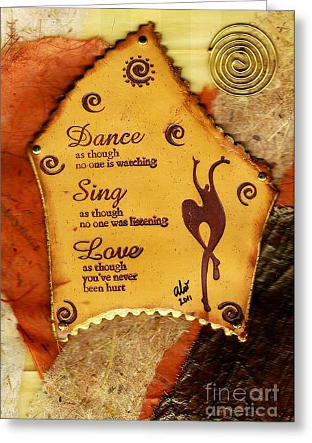 Polymer Clay Greeting Cards - LOVE Like Youve Never Been Hurt Greeting Card by Angela L Walker