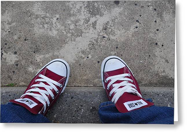 Brynn Ditsche Greeting Cards - Love My Converse Greeting Card by Brynn Ditsche