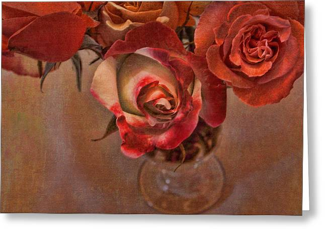 Textured Floral Greeting Cards - Love Offering Greeting Card by Bonnie Bruno