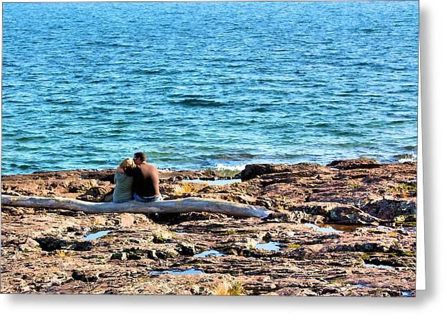 Arm Around Greeting Cards - Love on the Rocks Greeting Card by Kristin Elmquist