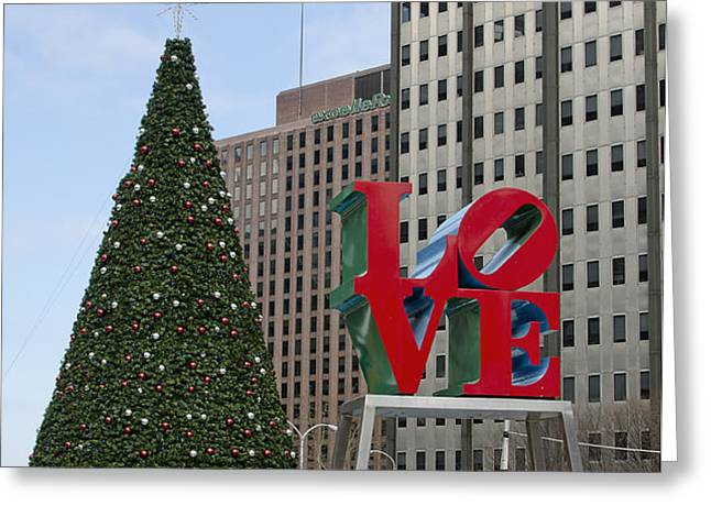 Love Park Philadelphia - winter Greeting Card by Brendan Reals