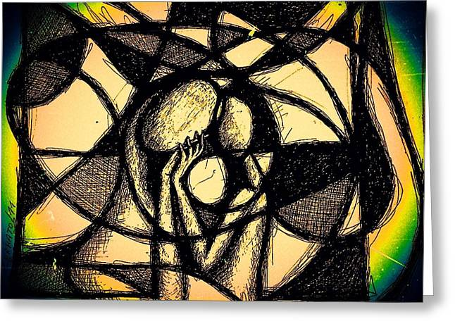Conditions Mixed Media Greeting Cards - Love Greeting Card by Paulo Zerbato