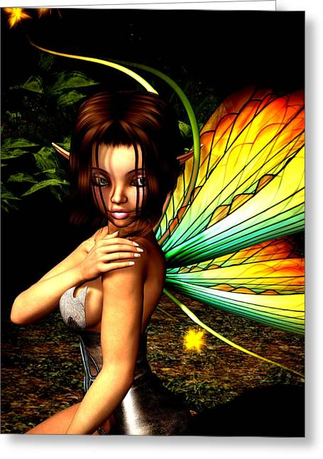 Mage Greeting Cards - Love Pixie 1 Greeting Card by Alexander Butler