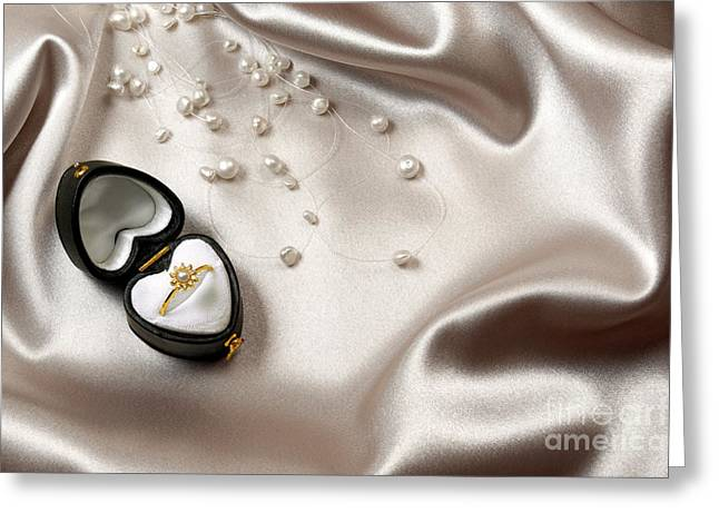 Gold Ring Greeting Cards - Love Ring Greeting Card by Carlos Caetano