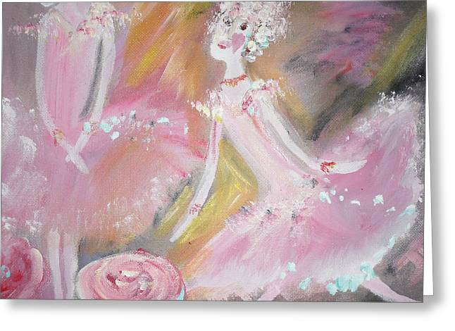 Best Sellers -  - Dance Ballet Roses Greeting Cards - Love Rose Ballet Greeting Card by Judith Desrosiers