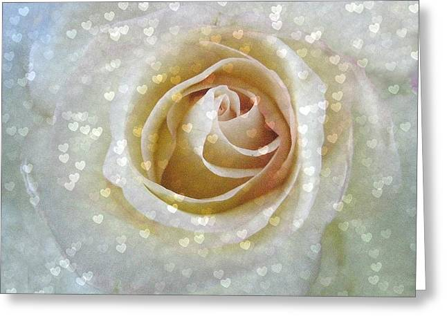 Subtle Greeting Cards - Love Spills Over Greeting Card by Shirley Sirois