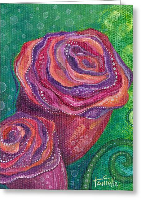 Redm Green Greeting Cards - Love Greeting Card by Tanielle Childers