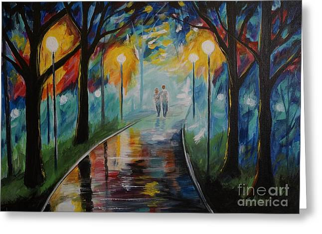 Going For A Walk Greeting Cards - Love The Way You Love Me Greeting Card by Leslie Allen