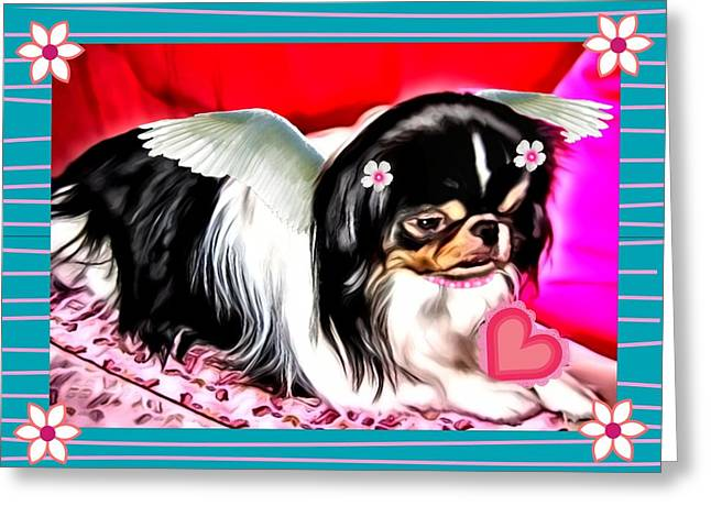 Puppies Greeting Cards - Love Greeting Card by Tisha McGee
