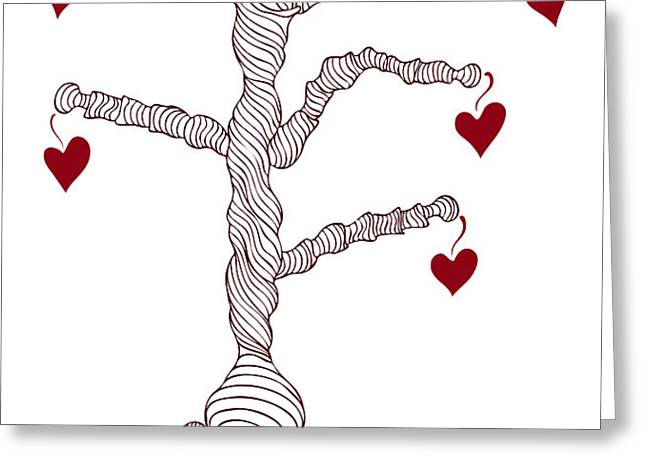 Love tree Greeting Card by Frank Tschakert