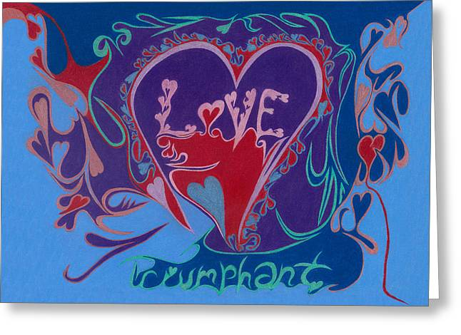 Substantial Greeting Cards - Love Triumphant 2nd of 3  Greeting Card by Kenneth James