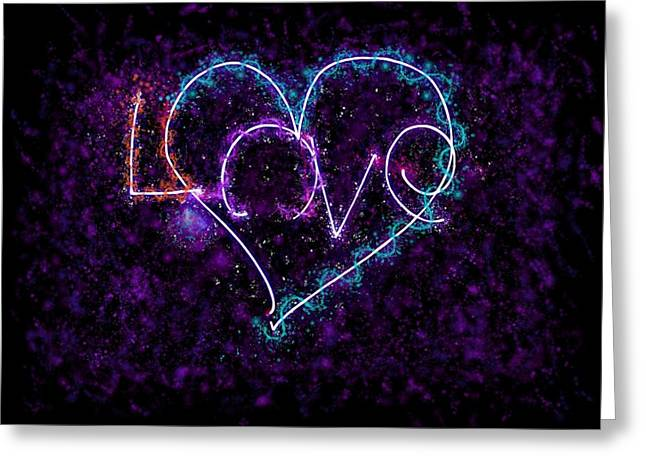 Local Mixed Media Greeting Cards - Love Universe Greeting Card by Mark Bell