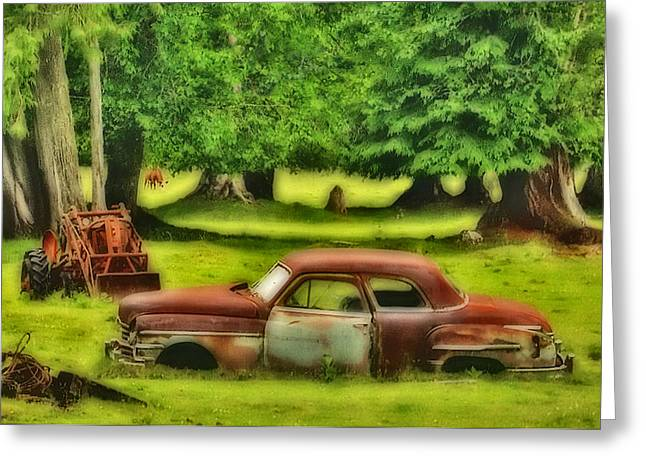 Rusted Cars Digital Art Greeting Cards - Loved this Car Greeting Card by Dale Stillman