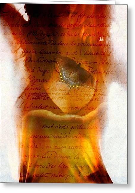 With Love Digital Art Greeting Cards - Loveletter Greeting Card by Gun Legler