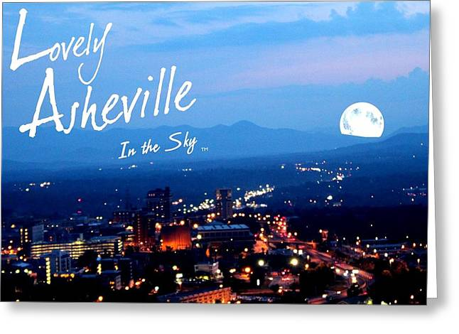 Michelle Obama Digital Art Greeting Cards - Lovely Asheville Greeting Card by Ray Mapp