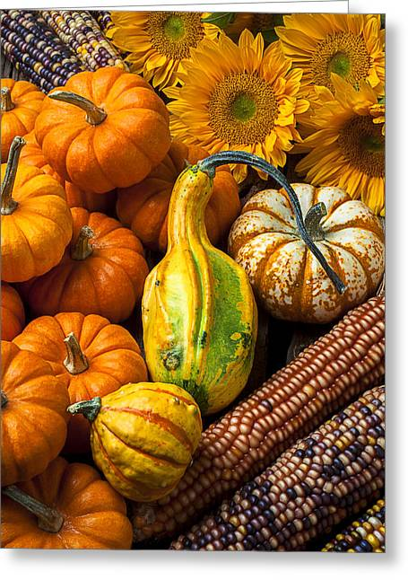 Gourds Greeting Cards - Lovely autumn Greeting Card by Garry Gay