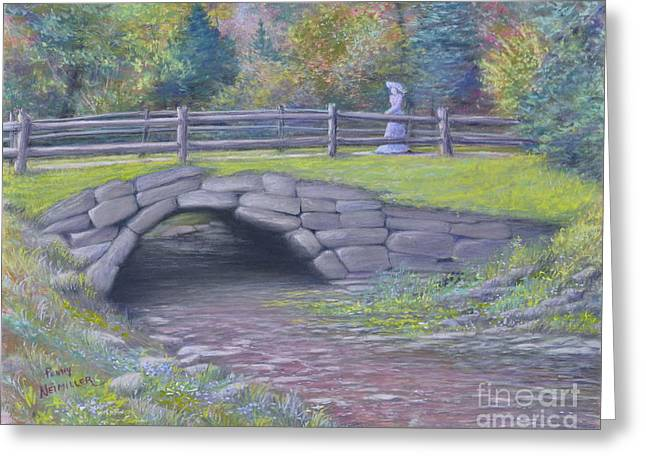 Park Scene Pastels Greeting Cards - Lovely Day at Idewild Park Greeting Card by Penny Neimiller