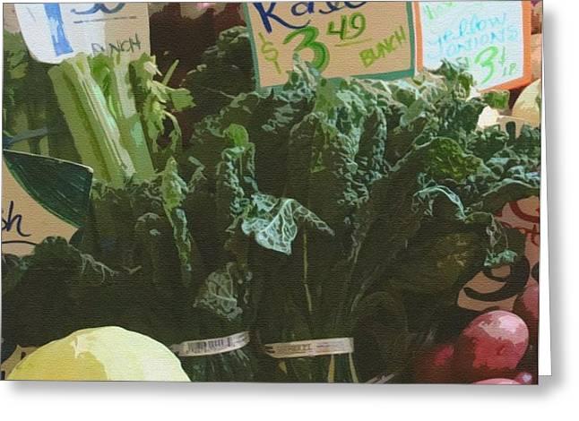 Lovely Kale Greeting Card by Lydia L Kramer