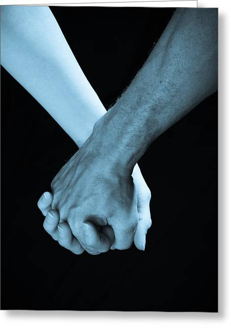 Hand Holding Greeting Cards - Lovers Hands Greeting Card by Scott Sawyer