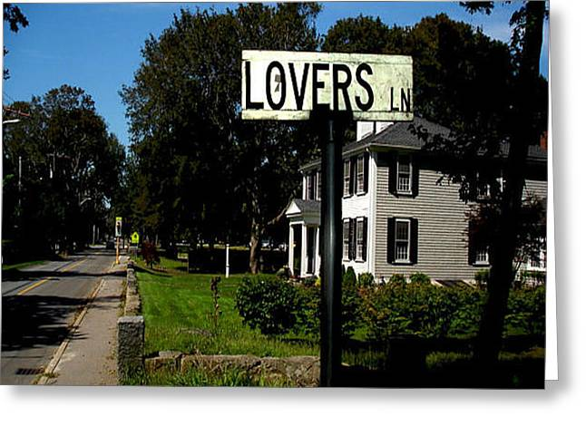 Duxbury Greeting Cards - Lovers Lane Greeting Card by Tamma Murphy