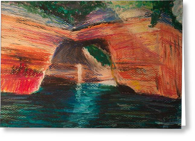 Formation Pastels Greeting Cards - Lovers Leap Greeting Card by Jason Sotzen