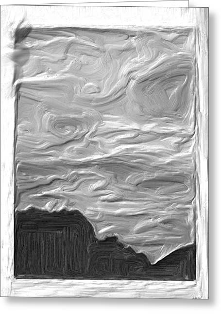Sillouette Greeting Cards - Lovers Leap Greeting Card by Mike Durant