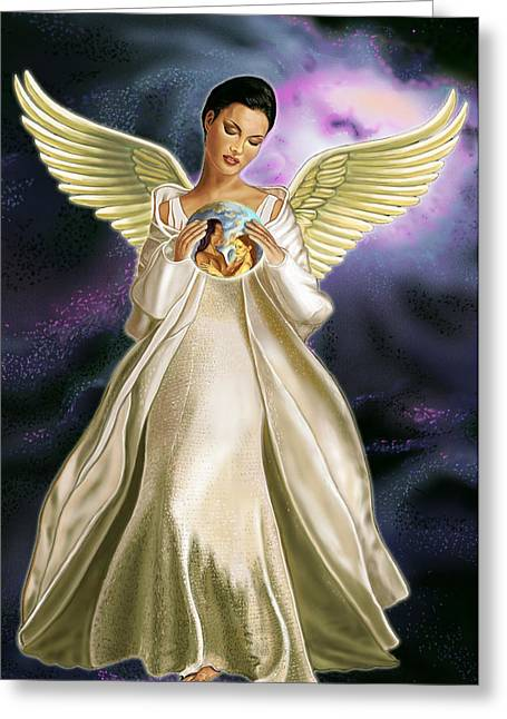 Goddess Art Greeting Cards - Lovers Greeting Card by Pamela Wells