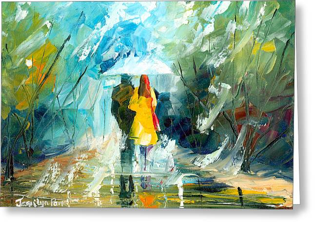 Jessilyn Park Greeting Cards - Lovers Stroll Greeting Card by Jessilyn Park