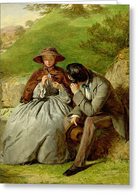 Proposal Greeting Cards - Lovers Greeting Card by William Powell Frith