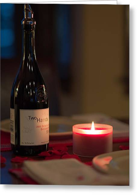 Syrah Greeting Cards - Loves Flame Burns Bright Greeting Card by Mike Hendren