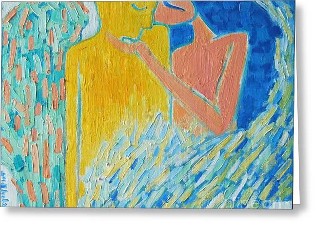 LOVING AN ANGEL Greeting Card by ANA MARIA EDULESCU
